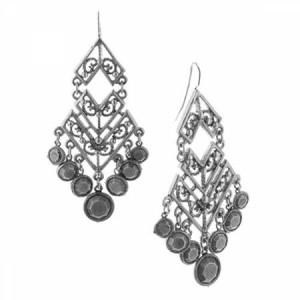 Bohemian style antiqued silver earrings.